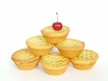 Het fruit hakt pasteipiramide fijn Stock Foto's