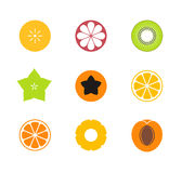 Het fruit van de besnoeiing Vector op CMYK-wijze Exotisch fruit op witte achtergrond vector illustratie