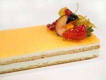 Het fruit van de cake met room stock foto's