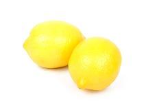 Het fruit van de citroen dat op wit wordt geïsoleerdl Stock Fotografie