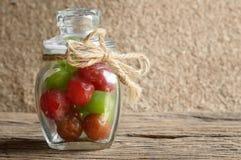 Het fruit van de groenten in het zuurkers royalty-vrije stock foto's