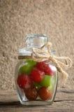 Het fruit van de groenten in het zuurkers stock fotografie