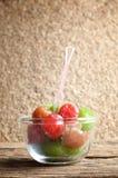 Het fruit van de groenten in het zuurkers royalty-vrije stock foto