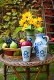 Het fruit van de herfst - in de tuin Stock Afbeeldingen