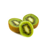 Het fruit van de kiwi dat op witte achtergrond wordt geïsoleerdd stock fotografie