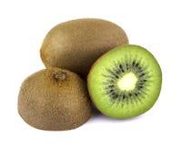 Het fruit van de kiwi op witte achtergrond royalty-vrije stock fotografie