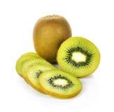 Het fruit van de kiwi op witte achtergrond Stock Afbeelding