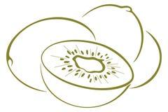 Het fruit van de kiwi, pictogram Stock Fotografie