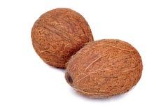 Het fruit van de kokosnoot op wit Royalty-vrije Stock Foto's