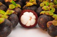 Het fruit van de mangostan Stock Fotografie