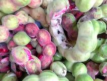 Het fruit van de tamarindepithecellobium van Manilla dulce, lokaal fruit Stock Fotografie