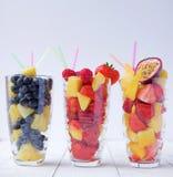 Het fruit van de zomer smoothies Stock Fotografie