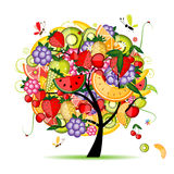 Het fruitboom van de energie voor uw ontwerp royalty-vrije stock afbeeldingen