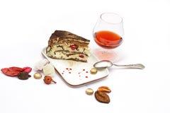Het fruitcake van Delicous Stock Foto