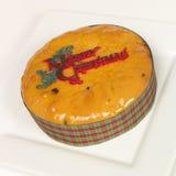 Het fruitcake van Kerstmis Stock Fotografie