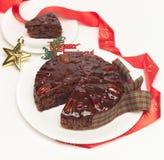 Het fruitcake van Kerstmis stock afbeeldingen