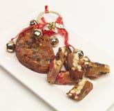 Het fruitcake van Kerstmis Stock Afbeelding