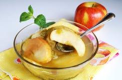 Het fruitcompote van de appel en van de rabarber Royalty-vrije Stock Afbeeldingen
