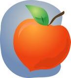 Het fruitillustratie van de perzik Stock Afbeeldingen