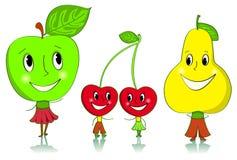 Het fruitkarakters van het beeldverhaal. Stock Afbeelding