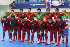 Het futsal team van Thailand Stock Fotografie