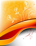 Het futuristische BloemenMalplaatje van het Ontwerp Stock Foto