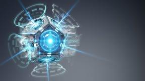 Het futuristische de cameraillustratie van de hommelveiligheid 3D teruggeven Stock Afbeelding
