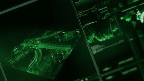 Het futuristische digitale interfacescherm royalty-vrije illustratie