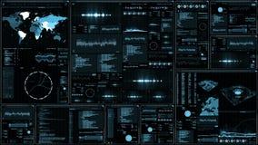 Het futuristische digitale interfacescherm vector illustratie