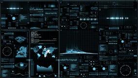 Het futuristische digitale interfacescherm stock illustratie