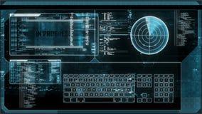 Het futuristische digitale interfacescherm stock footage