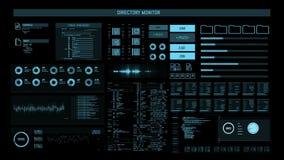 Het futuristische digitale interfacescherm