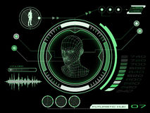 Het futuristische gebruikersinterface HUD van het aanrakingsscherm Royalty-vrije Stock Foto's