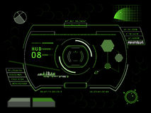 Het futuristische gebruikersinterface HUD van het aanrakingsscherm Royalty-vrije Stock Afbeelding
