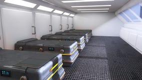 Het futuristische laboratorium van de ruimtearchitectuur Royalty-vrije Stock Fotografie
