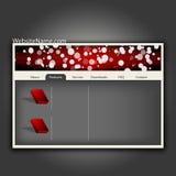 Het futuristische malplaatje van het websiteontwerp. Stock Foto