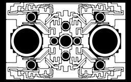 Het futuristische ontwerp van de fantasie stock afbeelding