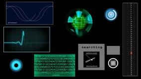 Het futuristische scherm, het volgen stock illustratie