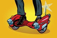 Het futuristische skateboard van de steampunkautoped stock illustratie