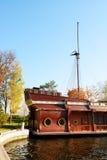 Het Galjoen schip-restaurant in Mezhigirya Royalty-vrije Stock Afbeelding