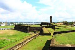 Het Galle-Fort, in het Oostelijke deel stock fotografie