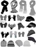 Het garderobe-pictogram van de winter vector royalty-vrije illustratie