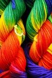 Het Garen van de regenboog stock fotografie