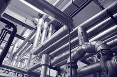 Het gas en de oliesystemen van de industrie royalty-vrije stock afbeelding