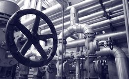 Het gas en de oliesystemen van de industrie royalty-vrije stock foto
