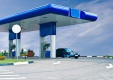 Het gas tankt post bij Royalty-vrije Stock Fotografie