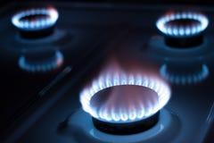 Het gas van het fornuis Royalty-vrije Stock Foto