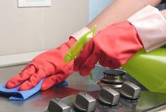 Het gas van Inox het schoonmaken Royalty-vrije Stock Foto