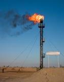 Het gasgloed van de olie Stock Afbeeldingen