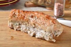 Het gastronomische braadstuk van het varkensvleeslendestuk royalty-vrije stock afbeeldingen